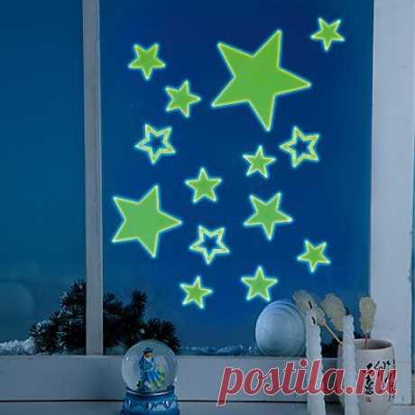Набор из 14 флуоресцентных наклеек - Украшения - Новый год: MeggyMall.ru Интернет-магазин - 299 р.
