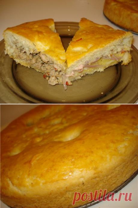 Пирог из жидкого пушистого дрожжевого теста рецепт с фотографиями