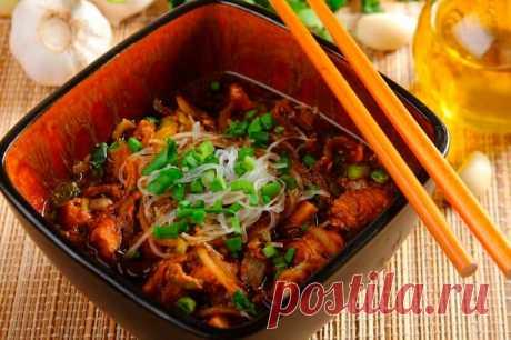 Китайский суп с лапшой и курицей – пошаговый рецепт с фото.