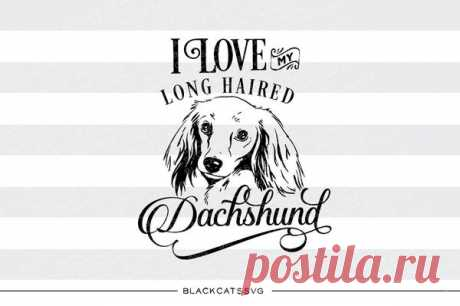 I love my long haired Dachshund-  SVG file Cutting File Clipart in Svg, Eps, Dxf, Png for Cricut & Silhouette - I love my chihuahua I love my long haired Dachshund- - SVG file This is not a vinyl, the file contains only digital files, and no material items will be shipped. This is a digital download of a word art vinyl decal cutting file, which can be imported to a number of paper crafting programs like Cricut Explore, Silhouette and some other cut