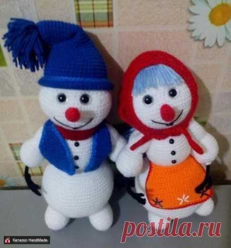 Новогодние игрушки Снеговик ручной работы купить в Минске и Беларуси, цены на HandMade