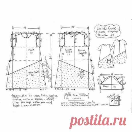Выкройка летнего платья – отличый фасон на каждый день (Шитье и крой) – Журнал Вдохновение Рукодельницы