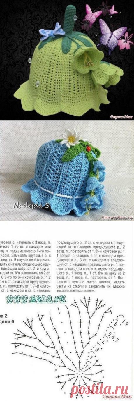Чудо панамка для девочек «Колокольчик» (Вязание крючком) | Журнал Вдохновение Рукодельницы