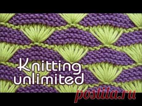 Shells on Garter-stitch Background | Knitting Unlimited