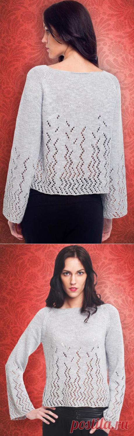 Вязаный пуловер Lace Raglan | ДОМОСЕДКА