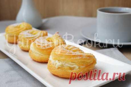 Заварные пирожные «Творожное кольцо» - пошаговый рецепт с фото