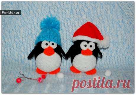 Пингвинчик Лаки / Вязание игрушек / ProHobby.su | Вязание игрушек спицами и крючком для начинающих, мастер классы, схемы вязания