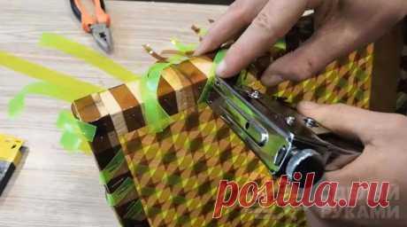 Простая техника плетения из пластиковых бутылок