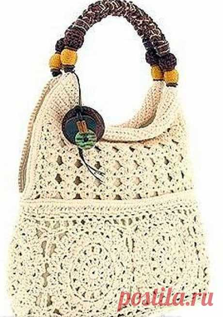 Вяжем сумочку на лето.