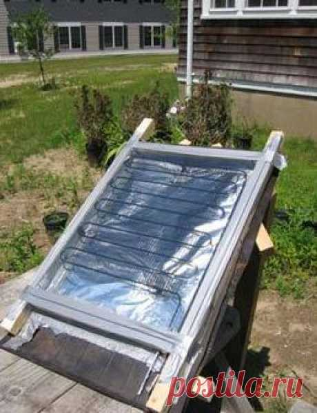 Солнечный коллектор для дачи из подручного материала
