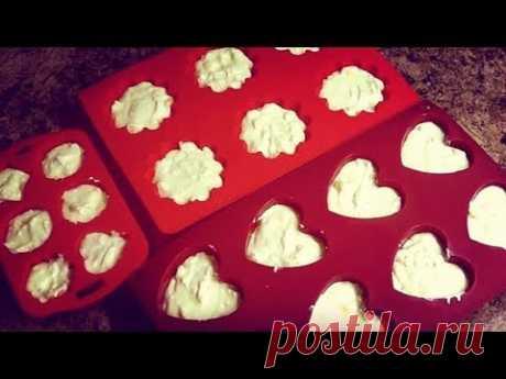 Нежнейшие творожные кексы с яблоками. Очень простой рецепт.