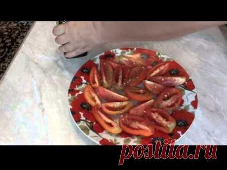 Los tomates curados en el microhondas la receta