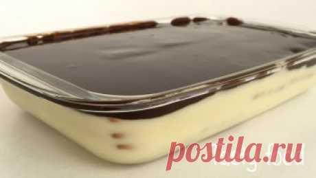 """Торт Без Выпечки """"Нежность"""" с Шоколадной Глазурью! Это Нереально Вкусно! Нереально вкусный торт с шоколадной глазурью и заварным кремом со сгущенки без выпечки. Чем-то похож по вкусу на птичье молоко! Всем приятного аппетита!!! Ре..."""