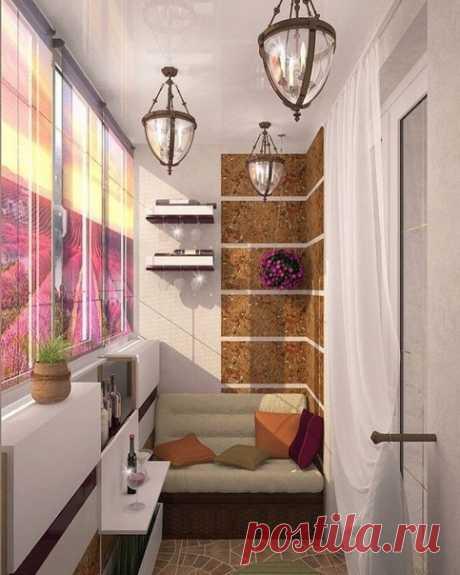 Потрясающий дизайн балкона