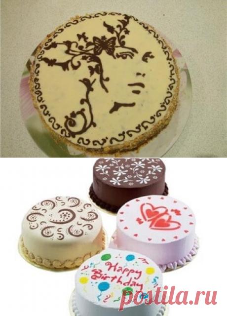 Трафареты для украшения тортов в домашних условиях