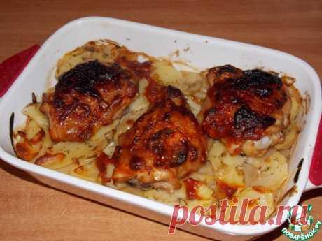 Картофель, запечённый с курицей Кулинарный рецепт