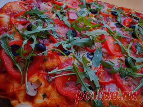 Замечательное тесто для пиццы.
