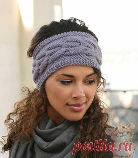 Вязаная повязка на голову   «Хомяк55.ру» сайт о вязании