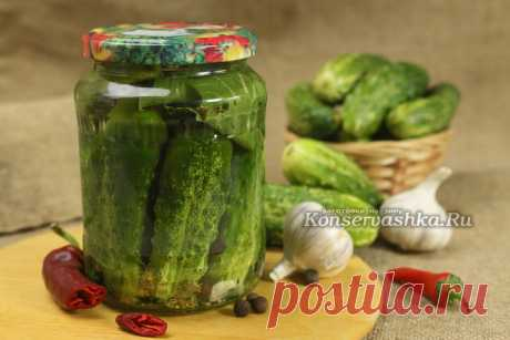 The crackling pickles, the recipe for the winter