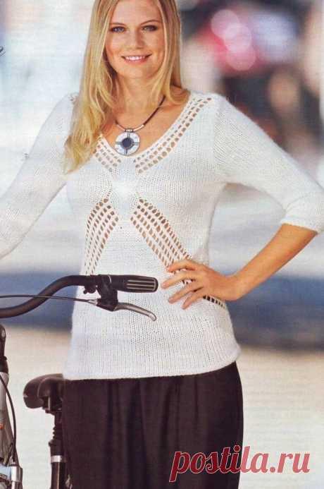 Джемперы из журнала Modische Masche спешат покорить лето.   Asha. Вязание и дизайн.🌶   Яндекс Дзен