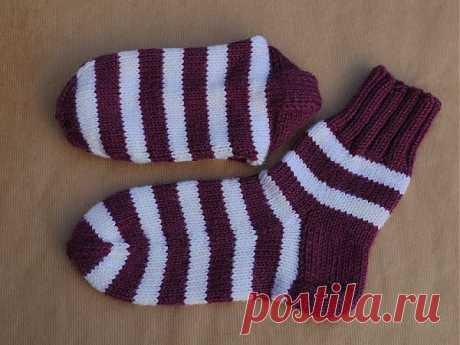 Краткая инструкция по вязанию простых носков | Домохозяйки