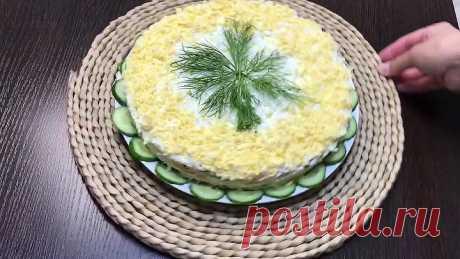 Салат для любителей шпрот