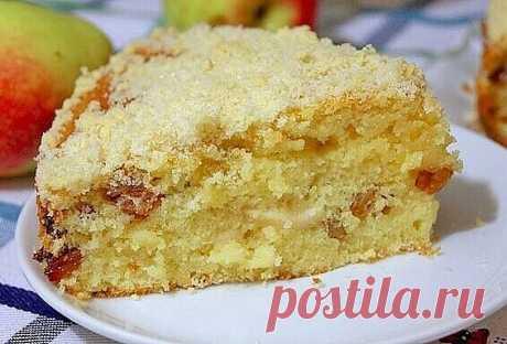 """Обалденный яблочный пирог """"Домашний"""""""