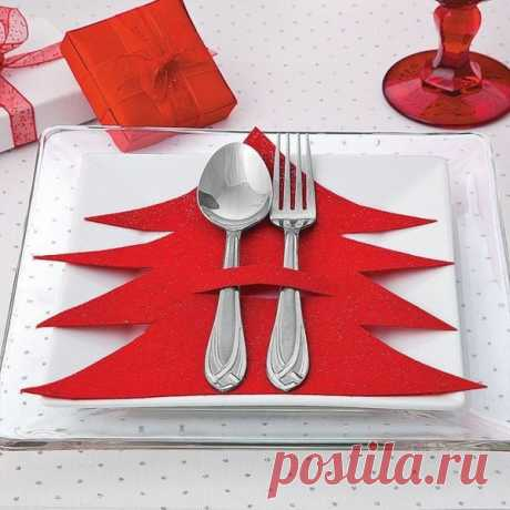 Новогодняя сервировка стола из фетра (опт)