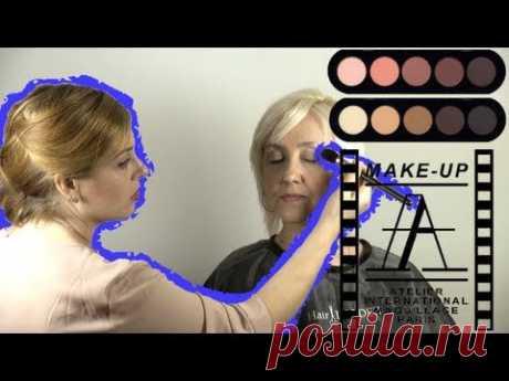 Возрастной макияж 45+ в карандашной технике | Age Makeup 45+ - YouTube