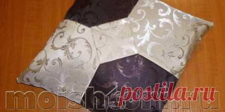 Декоративная подушка из остатков ткани   ШТОРЫ СВОИМИ РУКАМИ