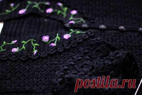 Irish crochet hand made black dress for photo shoot crochet | Etsy