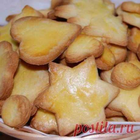 Простое печенье с лимоном - Печенье