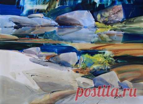 Уникальные акварельные картины природы Dale Laitinen