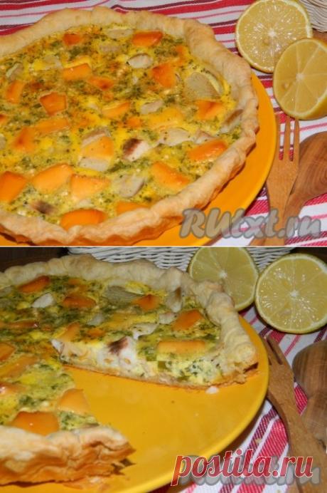 Рыбный пирог с плавленным сыром - рецепт с фото
