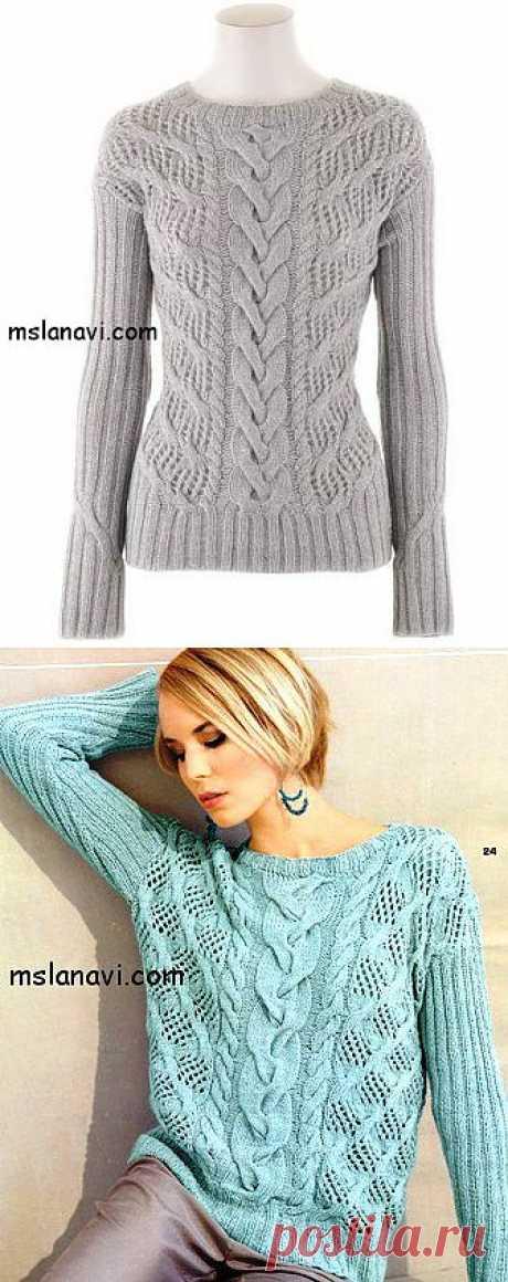 Ажурный пуловер спицами от Iris Von Arnim | Вяжем с Ланой