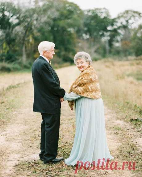 Любовь возраста не имеет: трогательная фотосессия пары, которая уже 63 года вместе