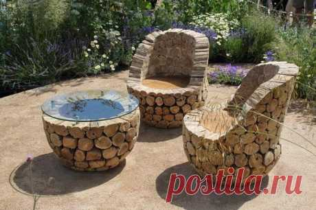 We decorate a garden from improvised materials: 14 cool photos of ideas