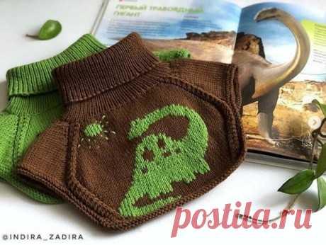 Манишка с ростком, описание вязания, Вязание для детей