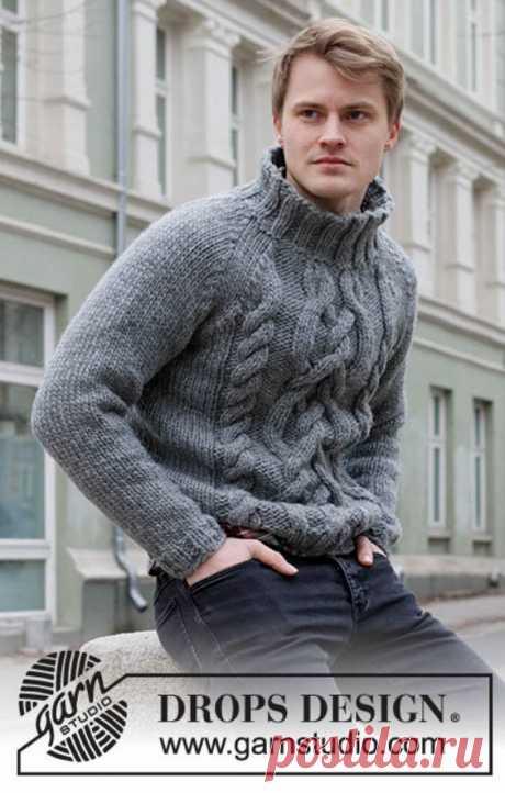Перевод описания вязания мужского джемпера «Иди по следу» от Drops Design | Ксения Kukanchik | Яндекс Дзен