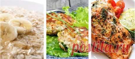Меню правильного питания на день (Вариант №1)