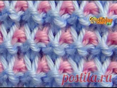 Cómo Tejer Punto ROPA BEBÉ #17 - Baby Stitch - 2 agujas (413)