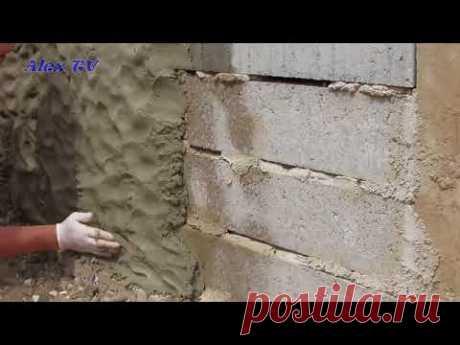 Mauer aus Beton in Steinoptik selber machen . - YouTube