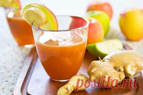 Эта смесь из имбиря, яблока и лимона смоет буквально фунты токсинов из вашего организма!
