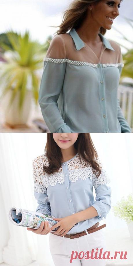 Идеи переделок блузок с кружевом