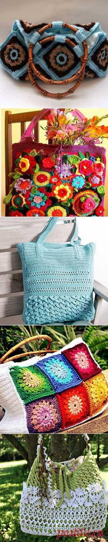 Вязаные сумки своими руками: 30 красивых идей   Домохозяйки