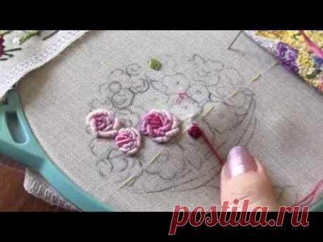 Уроки вышивания Техника РОКОКО