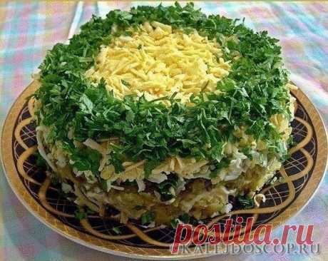 10 салатов с ГРИБАМИ! | Калейдоскоп