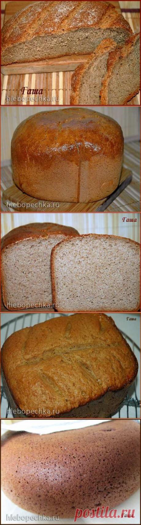 """Ржаной хлеб """"Без ничего"""" (духовка, хлебопечка, мультиварка) - ХЛЕБОПЕЧКА.РУ - рецепты, отзывы, инструкции"""