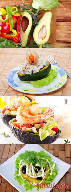 Салаты из авокадо, рецепты: салат из авокадо с креветками, с курицей, с семгой, огурцами и сыром