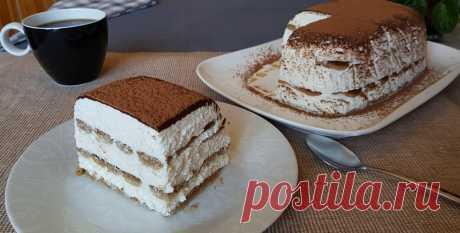 Творожный торт. По мотивам знаменитого десерта Тирамису   Вкусно Просто Быстро   Яндекс Дзен